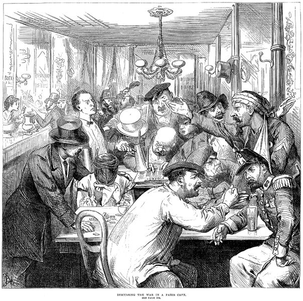 Café.revolution.ParisCafeDiscussing.the.war