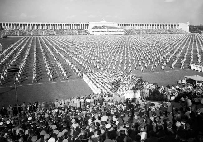 Germany.Mass gymnastics.Day of Community.at Nuremberg.Germany on September 8.1938