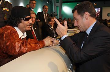 gaddafi sarkozy