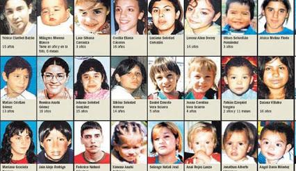 Tiene México 45 mil niños desaparecidos